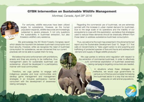 GYBN-SBSTTAInterventionon_Sustainable Wildlife Management