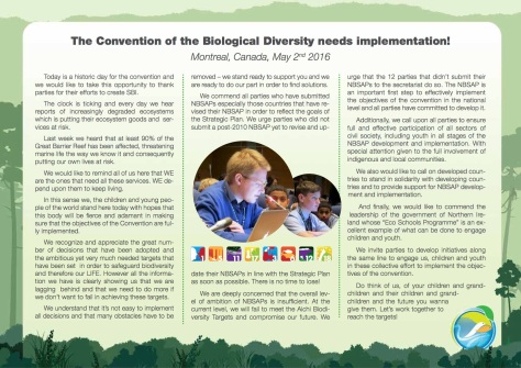 GYBN-SBSTTAInterventionon_The Convention of the Biological Diversity